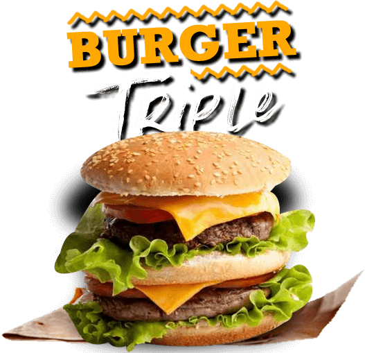 commander burgers triples à  fontaines tours